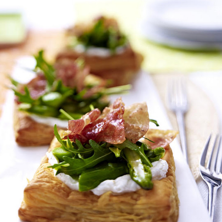 Goat Cheese, Asparagus and Prosciutto Tarts Recipe