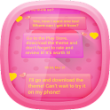 Pink Love for GO SMS icon
