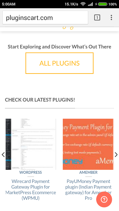 Plugins Cart- screenshot