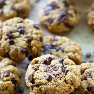 Flourless Peanut Butter Chocolate Chip Oatmeal Cookies.
