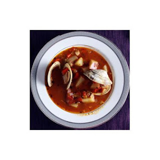 Clam Chowder With Fire Roasted Tomatoes.