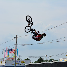 High flying by Thomas Fitzrandolph - Sports & Fitness Cycling ( nikon d5200, lockport ny, cycling, bmx, niagara county, summer )