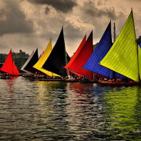 Boats Race by Rizki Mayendra - Transportation Boats ( water, device, transportation,  )