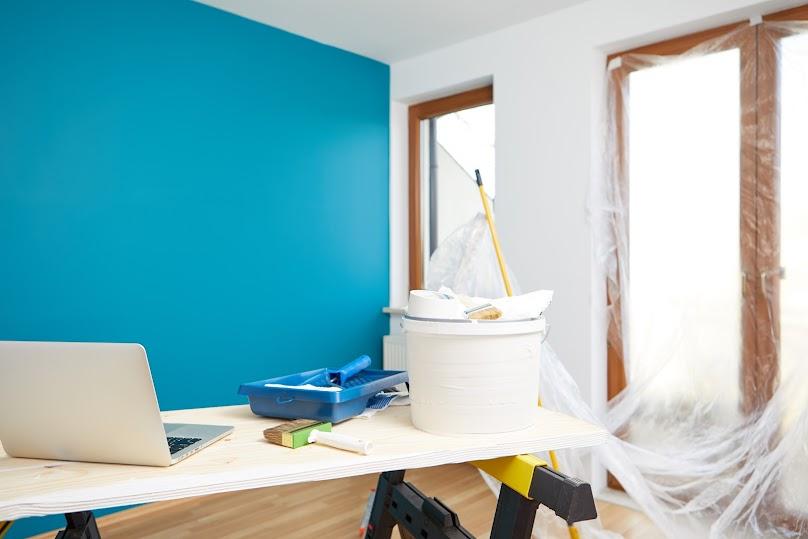 Ściana pomalowana farbą zmywalną