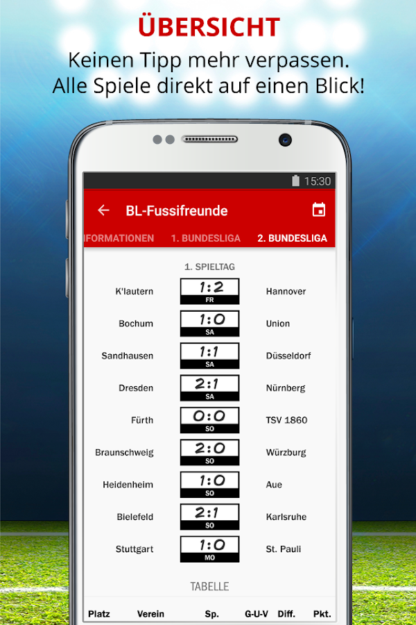 Kicker Tippspiel App