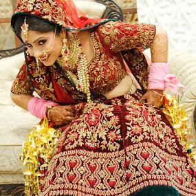 Beautiful Bride by Shrey Chohan - Wedding Bride ( love, wedding photography, wedding, marria, candid, bride and groom, bride )