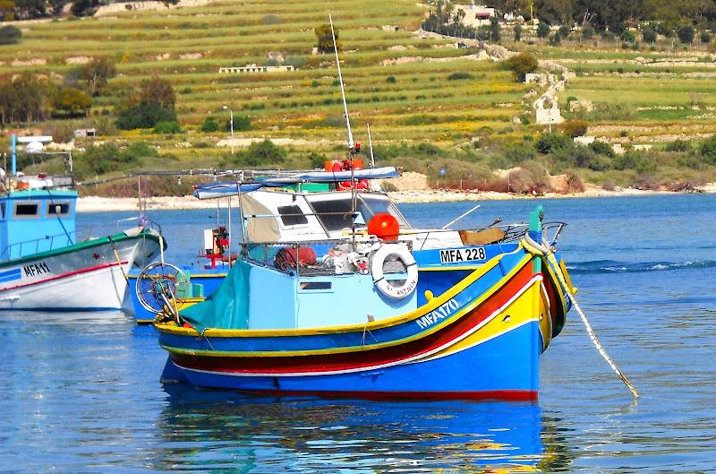 Tradizionale barca da pesca maltese di steconte