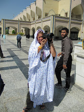 Photo: Day 151 -  Dee in Chador at Holy Shrine #3
