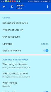 KT Messenger - náhled
