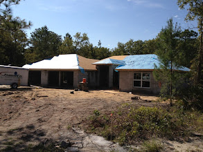 Photo: September 19, 2012. Roof almost done. Photo by Lake Weir Living