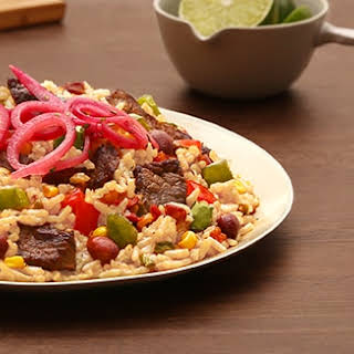 Sizzling Mexican Steak.