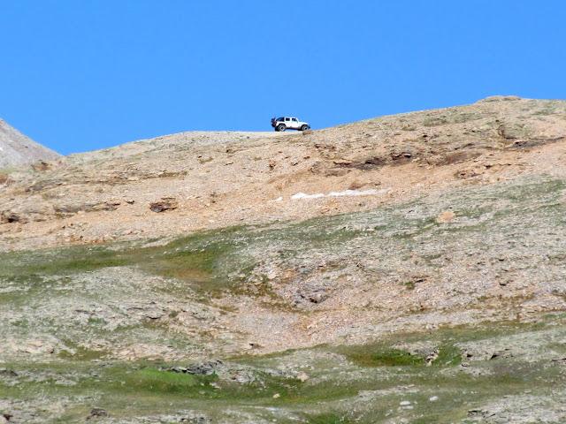 Jeep near Black Bear Pass