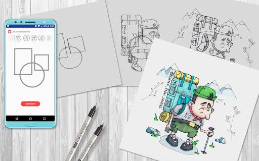 LineArt Generator - ideas for drawing 1.3.4-free screenshots 1