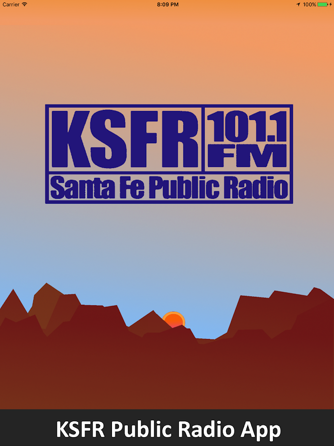 KSFR Public Radio App- screenshot
