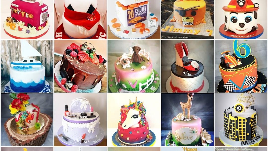 Superb Sophie Amelie Creative Cakes Wedding And Celebration Cakes Baked Funny Birthday Cards Online Fluifree Goldxyz