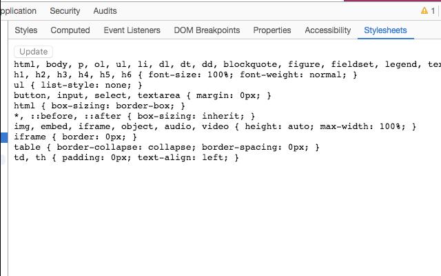 CSSObj Check Stylesheet Code