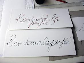 Photo: 16-Laurence, écriture coulée