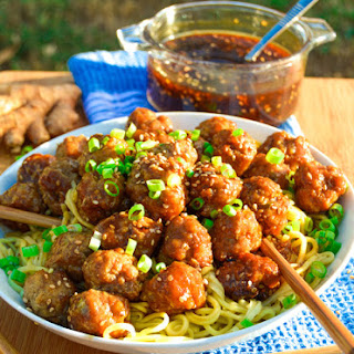 Ginger Teriyaki Meatballs.
