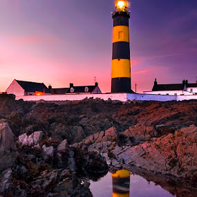 St. John point by Grzegorz Gluchy - Landscapes Travel ( ireland, sunset, lighthouse )