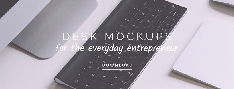 Everyday Desk Mockups - Facebook Page Cover Template