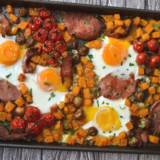 Full English Breakfast Traybake.