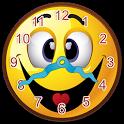 Smiley Face Clock Widget icon