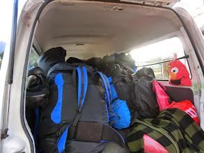 Photo: 荷物いっぱい