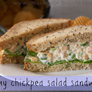 Creamy Chickpea Salad Sandwiches
