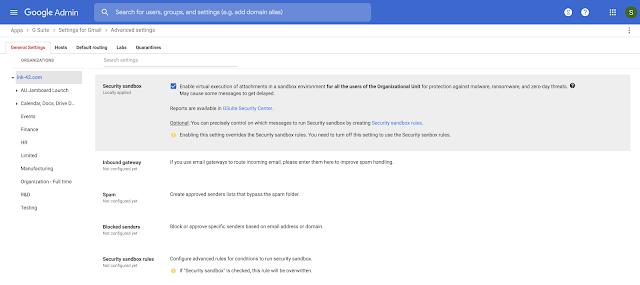 Security Sandbox for Gmail