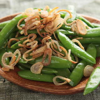 Snap Peas with Crispy Shallots