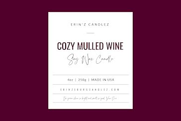 Cozy Mulled Wine - Label template