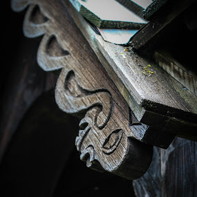Serpent Carving by Maria Sicilian - Buildings & Architecture Public & Historical ( serpent, stave church, stave, norwegian, wood, church, dragon, carving, draken, medieval, woodcarving )