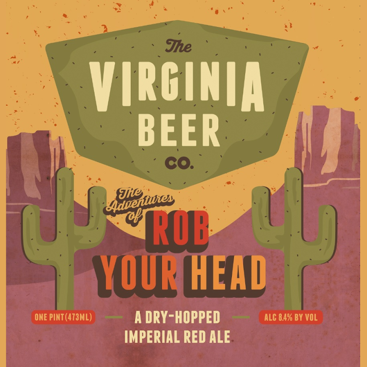 Logo of Virginia Beer Co. Rob Your Head Imperial Red