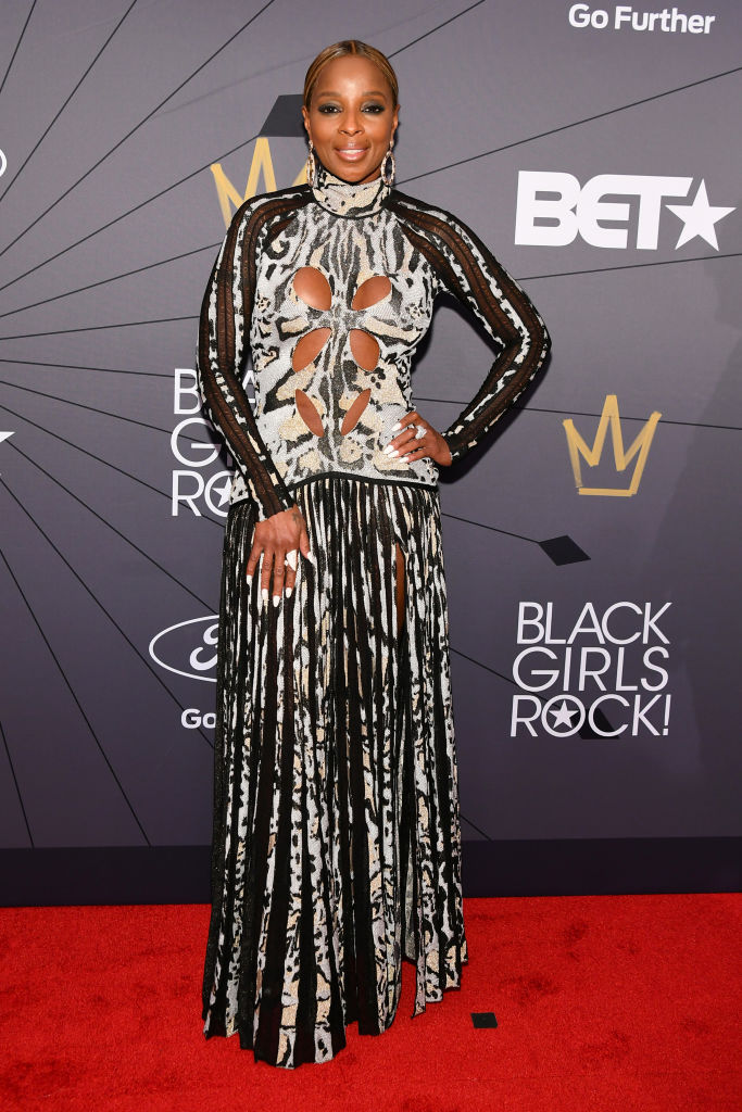 Mary J Blige at the 2018 BET Black Girls Rock! Awards.