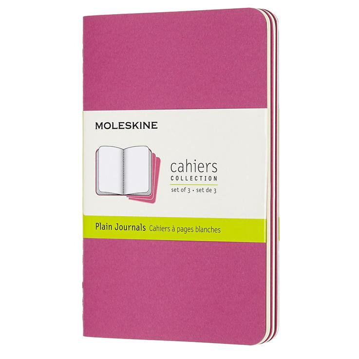3 x Cahier Journal Pocket Pink