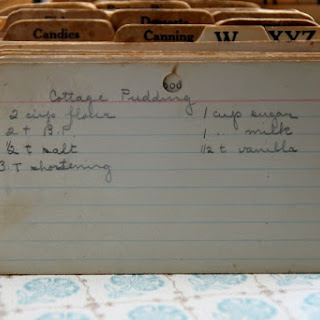Cottage Pudding Recipes