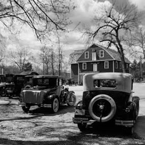 by Jim Harris - Black & White Street & Candid ( parking lot, old bridge, grain mill, antique cars, antique )