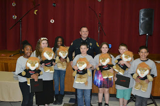 Photo: Essay Winners with Officer Vito