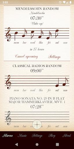 Classical Music Alarm Clock and Player screenshots 1