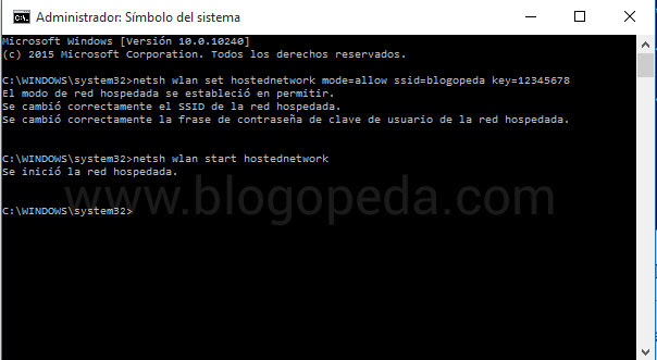 crear un punto de acceso wifi en windows 10