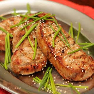 Grilled Honey Soy Pork Chops.