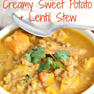 Creamy Sweet Potato and Lentil Stew
