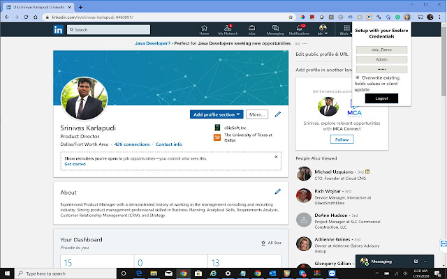 Exelare LinkedIn Integration