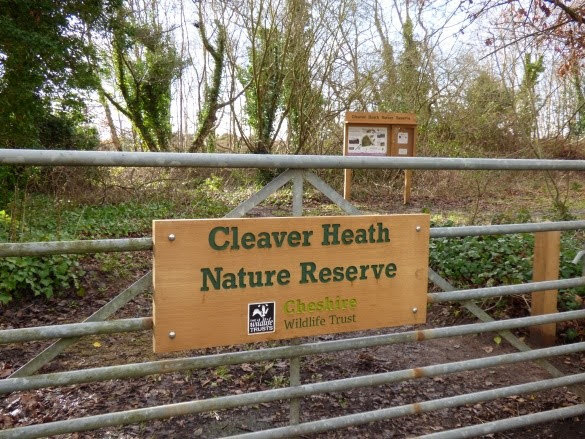 The entrance and interpretation board at Cleaver Heath