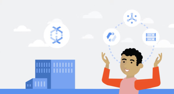 Thumbnail image of large building with Datflow icon over it, and to the right a man juggles Pub/Sub, Cloud Storage, and Cloud AutoML icons