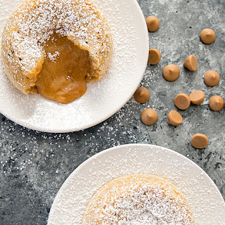 Peanut Butter Molten Lava Cakes.