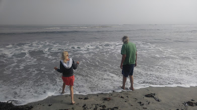 Photo: First stop was Maverick's Beach, Andy and Linda's first visit to the Pacific Ocean.