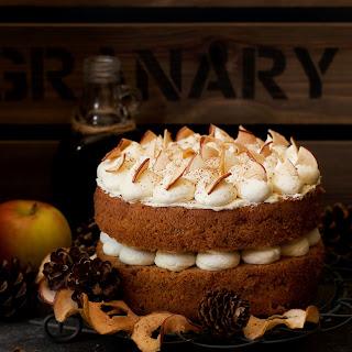 Cinnamon Apple Cake with Salted Maple Buttercream.