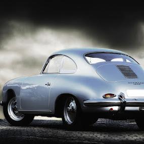 Grey Porsche. by Elmer van Zyl - Transportation Automobiles ( canon, cloud., 1600, porsche, elmer van zyl )