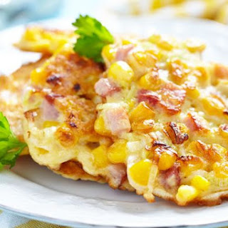 Corn And Ham Fritters.